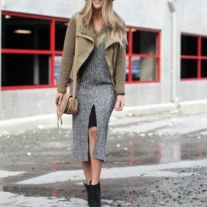 {Anthro} Dolan || Layered Luna Knit Midi Dress L